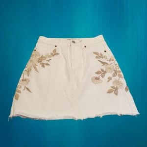 Abercrombie & Fitch Zoe Natural Rise A Line Skirt